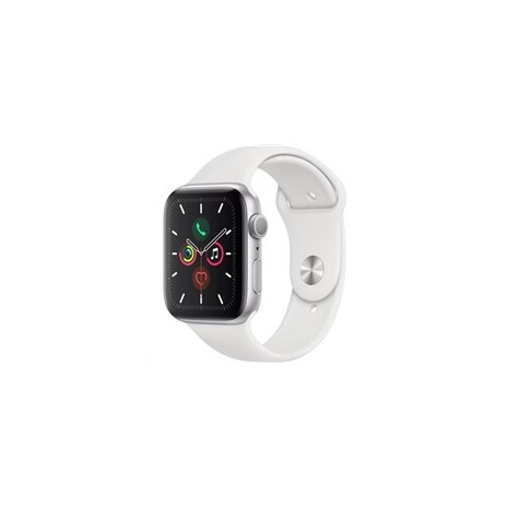 Apple Watch Series 5 GPS, 44mm Silver Aluminium Case with White Sport Band - S/M & M/L/rozbaleny