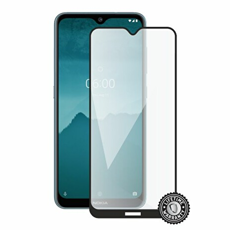 Screenshield NOKIA 6.2 (2019) Tempered Glass protection (full COVER black)