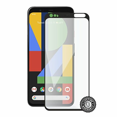Screenshield GOOGLE Pixel 4 XL Tempered Glass protection (full COVER black)